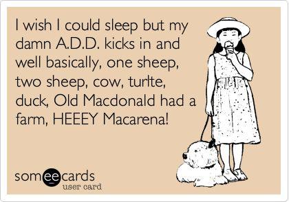 I wish I could sleep but....