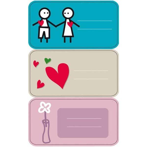 """Comprar 3 Hojas Etiquetas Regalo """" Enamorados"""" Apli 11604  #regalo #casa #colores #colegio #school #infantil #niños #dibujos #etiquetas"""