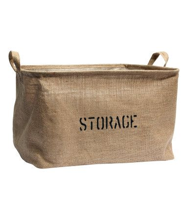 H&M Jute Storage Basket . Have a couple on the way to get my linen closet looking a little less chaotic.