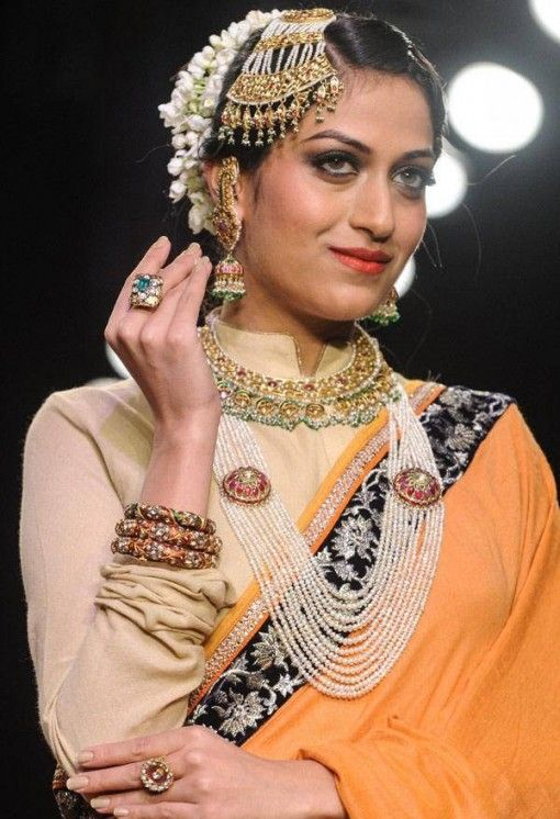 iijw 13 golecha jewels jhumki pearl layered necklace bridal