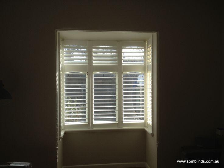 Box Window Plantations Shutters by SOM Blinds. www.somblinds.com.au