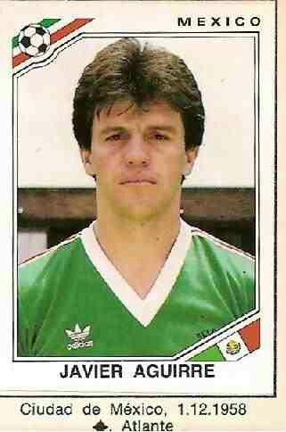 Javier Aguirre of Mexico. 1986 World Cup Finals card.