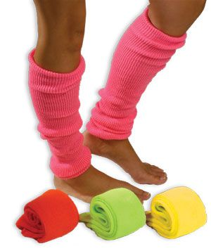 Neon Leg Warmers  -  what a blast from the past!!!