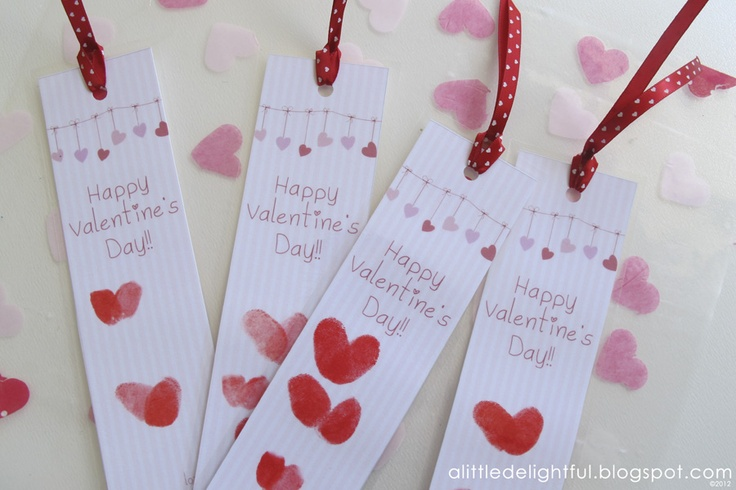 a little delightful: {printable} valentine's day bookmarks  #ValentinesDay #craft #printable