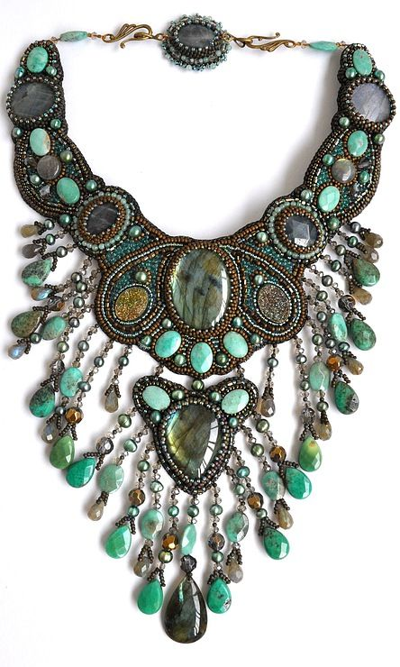 "chunky jewellery,Modern Boho, Bohemian, Tribal, Aztec, Hippie   Collier ""Ondine"" by Irina Chikineva"