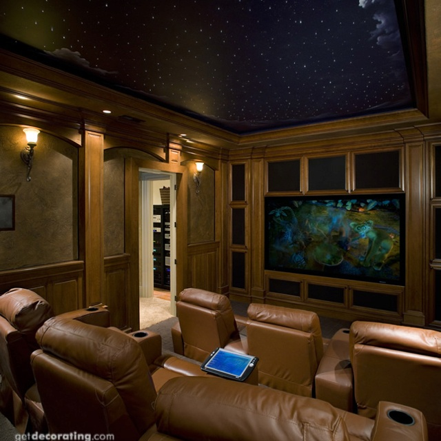 Home theatre room wall colors