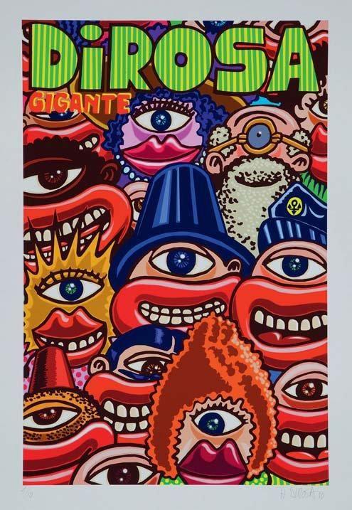 """Le lot n°28 est offert par Hervé Di Rosa, l'un des principaux représentants de la Figuration libre. Cette estampe pigmentaire """"Gigante"""" est estimée 300 à 400€. Allez-vous faire monter les enchères? #Telethon2014 #LesArtistesOntDuCoeur #ArtContemporain"""