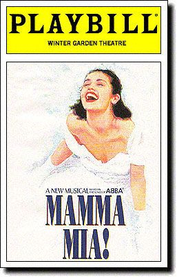 Mamma Mia! Playbill Covers on Broadway - Information, Cast, Crew, Synopsis and Photos - Playbill Vault