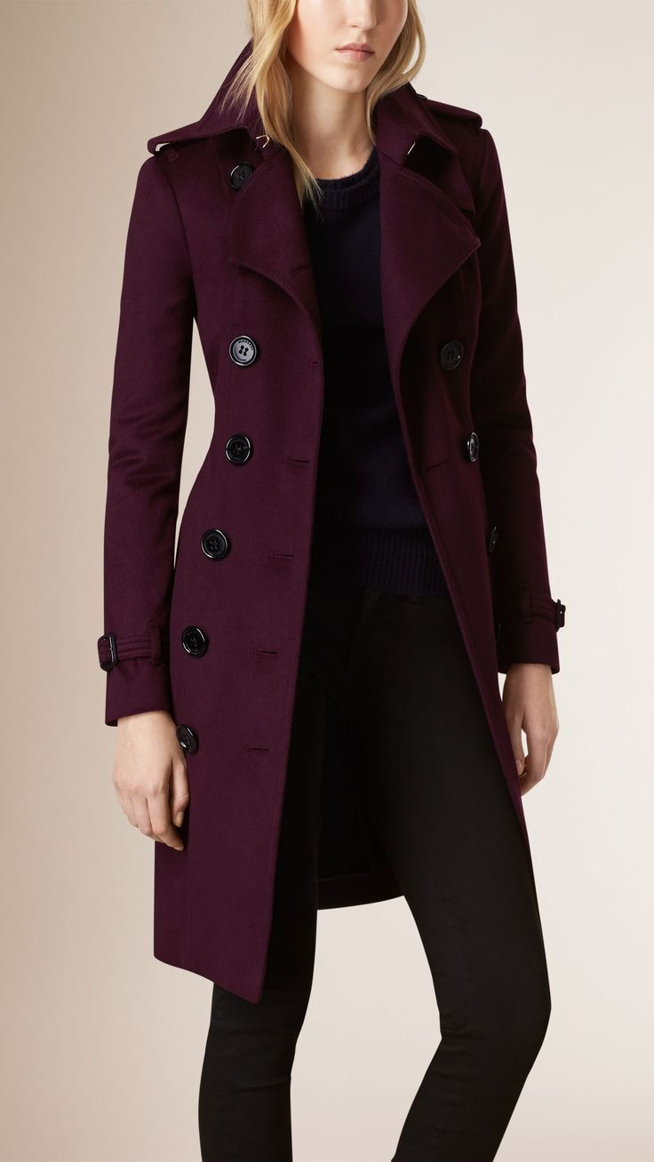 Sandringham Fit Cashmere Trench Coat | Burberry