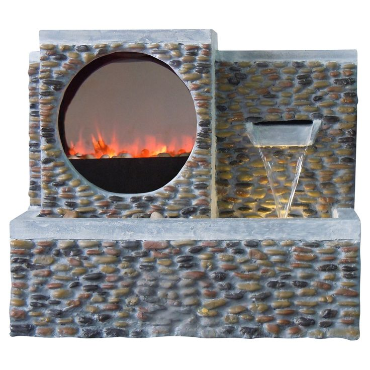 Alpine Fireplace LED Pebble Fountain - Fountains at Hayneedle