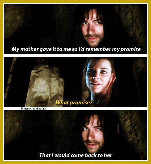 Well Kili my love you have broken your promise.