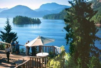 Udsigt fra Westcoast Wilderness Lodge Canada