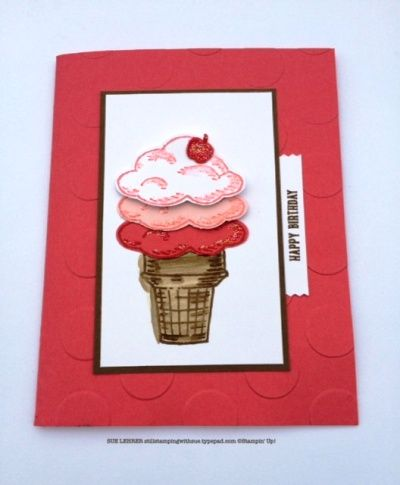 Handmade ice cream cone birthday card using the Sprinkles of Life Stamp Set from Stampin' Up!