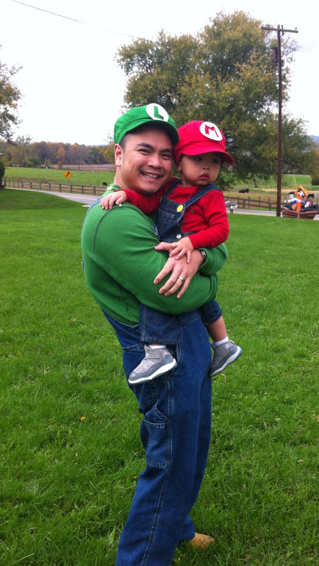 Our Super Mario Brothers, Father-son costume from 2011! Easy to do!