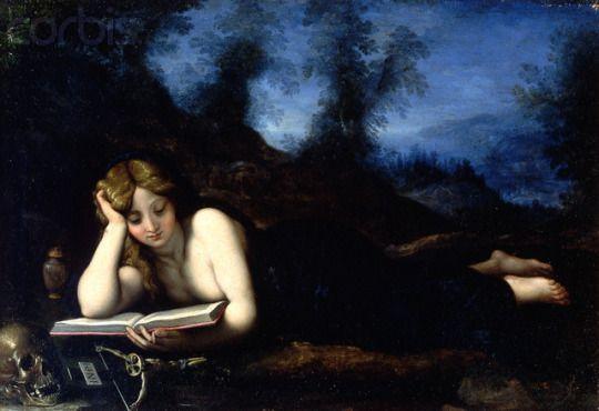 Alessandro di Cristofano di Lorenzo del Bronzino Allori (1535-1607)  Mary Magdalene Reading. Gifted Minerva