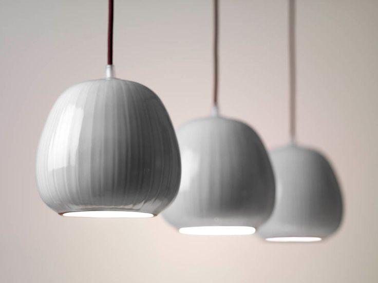 White Pottery Pendant Light fixture