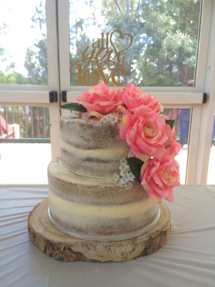 Naked cake for a bridal shower.