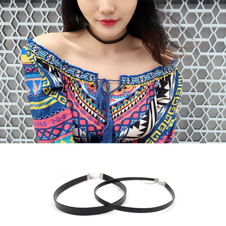 Hot Newest style  fashion jewelry accessories black Simple short   leather  choker necklace for couple lovers'  N131
