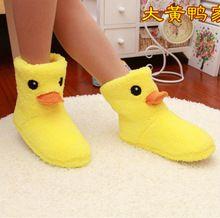 Il nuovo grande giallo anatra pantofole di cotone carino donne inverno caldo casa di cotone imbottito scarpe inverno inferiore molle interne peluche pantofole(China (Mainland))
