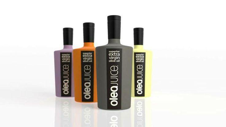 Olea Juice Greek superior extra virgin olive oil! Colourful packaging #design!