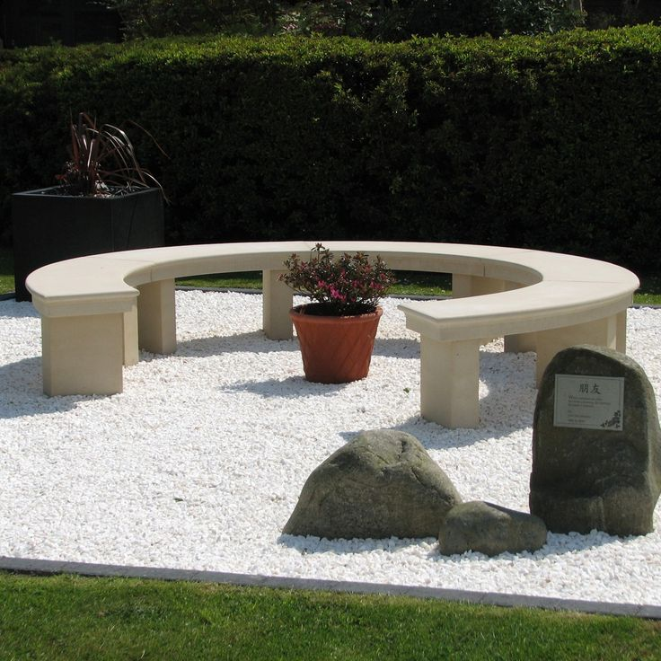 Curved Stone Garden Benches   Google Search