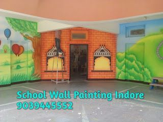 PLAY SCHOOL WALL PAINTING: play school wall painting and decoration
