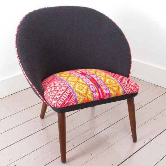 Pacha Mama Chair  1960's Danish Chair with Handwoven by ARumFellow