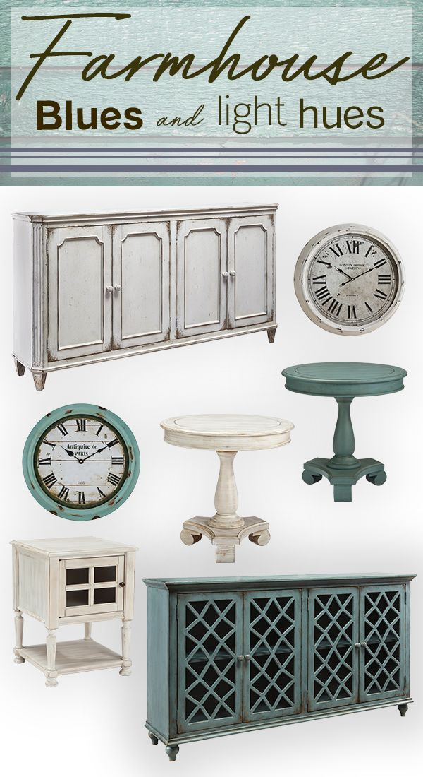 Have a case of the blues? Treat it with these weathered and reclaimed wood styles in our curated Farmhouse collection.