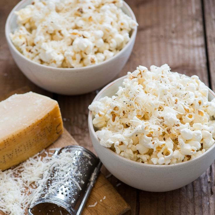 Cheesy popcorn gets an upgrade with freshly grated Parmesan, salt and pepper.