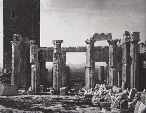 William James Stillman. The Eastern Facade of the Propylaea. 1869