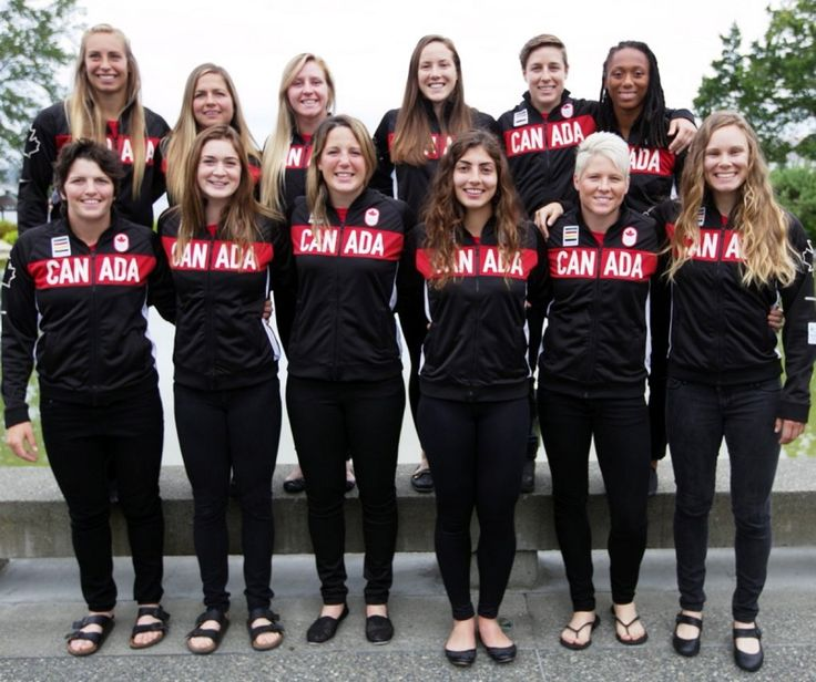 Canada's rugby sevens team for the Olympics was unveiled in downtown Victoria on Friday.