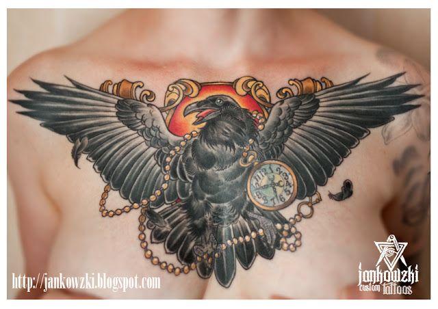 Raven Tattoos for Women | Jankowzki custom Tattoos: Neo traditional tattoos