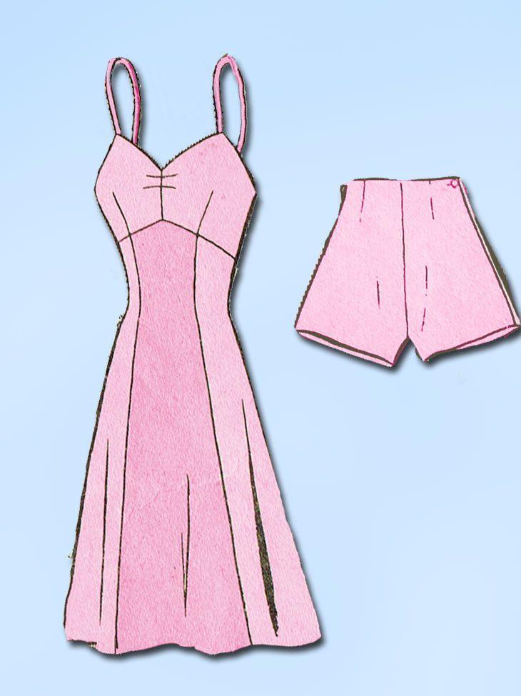 1940s Vintage Mail Order Sewing Pattern 1773 WWII Misses Bra Slip Size 18 36B