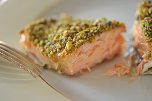 Pistachio-crusted salmon from Robert Irvine Foodnetwork. With baked ...