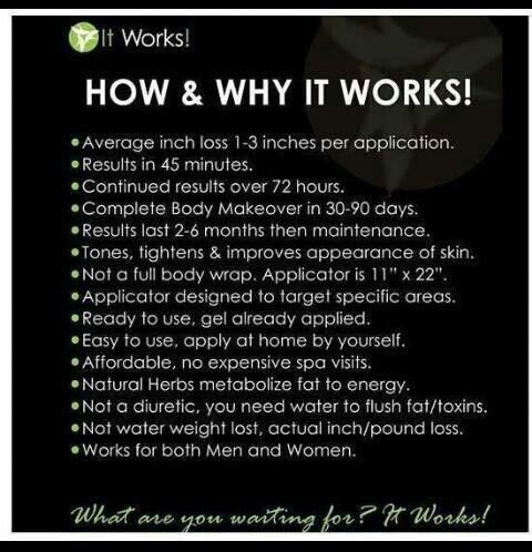 How do the It Works wraps work?? Why?? http;//wanttoloseitwrapit.myitworks.com