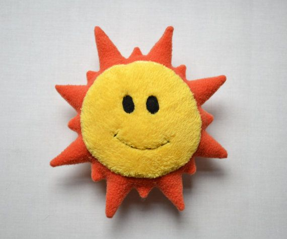 Le doudou Soleil / Peluche fait main poupée by FunkySunday on Etsy, €20.00
