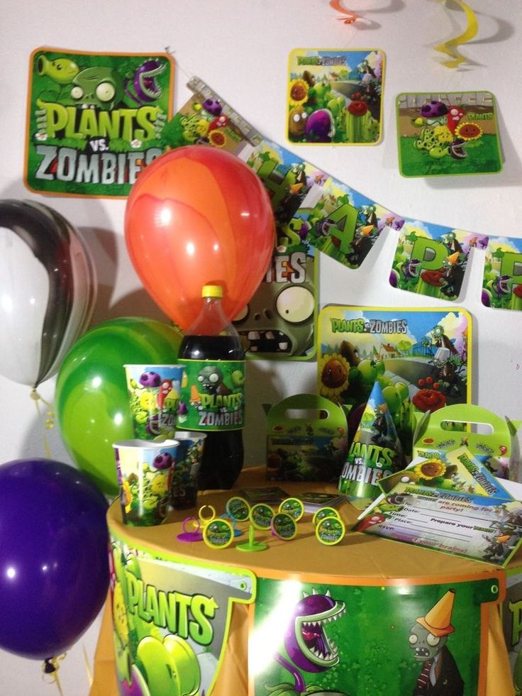 plants vs zombies happy birthday party pack supplies - Zombie Party Supplies