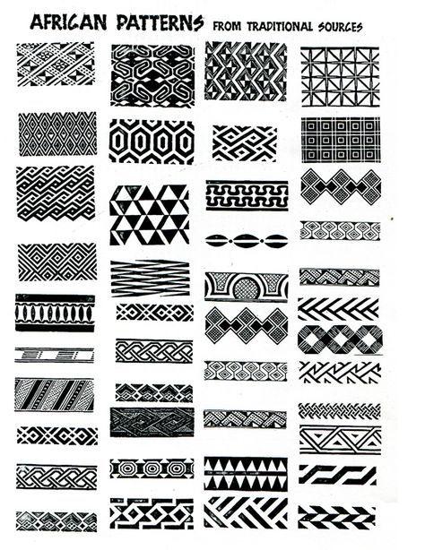 Weer de Afrikaanse patronen met hun vormen en lijnen
