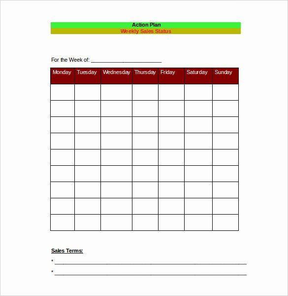 30 Sales Action Plan Template Excel In 2020 Simple Business