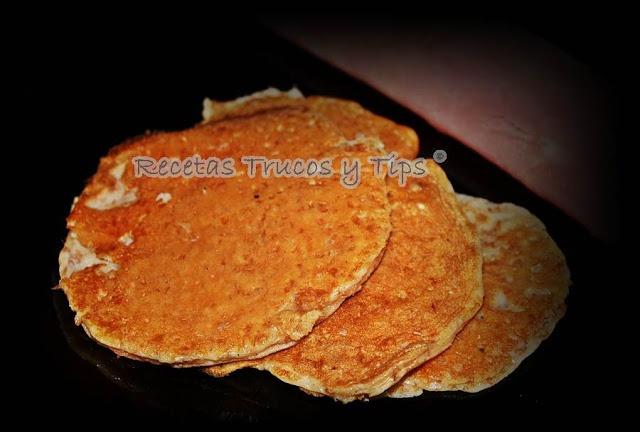 Receta tortitas Dukan (pancakes).