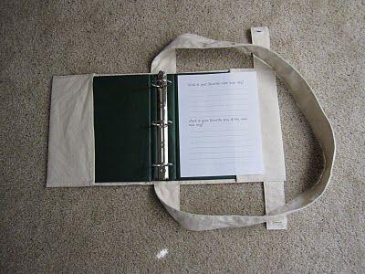3-ring binder cover that folds into a shoulder bag