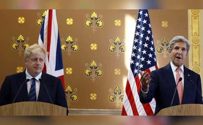 Kerry Meets With Boris Johnson, And It's A Friendly But At Times Awkward Affair