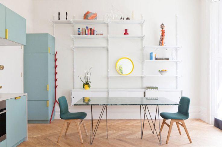 O flat em Londres foi reformado para aproveitar melhor o espaço e se tornar um refúgio para a moradora