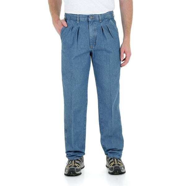 d83e9b13 Wrangler Relaxed Fit Side Elastic Pleated Denim Angler Pants ...