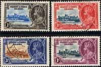 Gilbert and Ellice Islands 1935 King George V Silver Jubilee Set Fine Used  SG 36-39 Scott 33-36 Other Gilbert Ellice Islands Stamps HERE