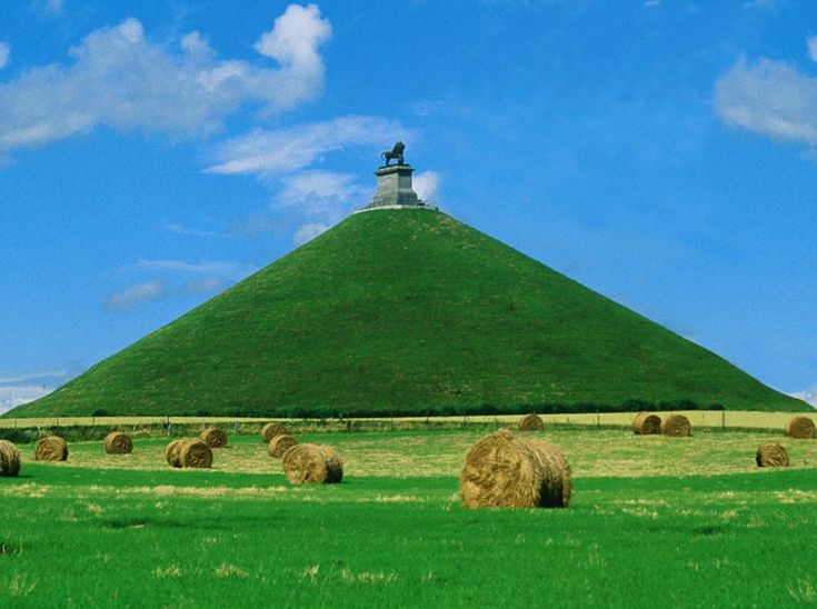 Napoleon was defeated in 1815 in Waterloo, Belgium. The hill is the exact location of the battle field.