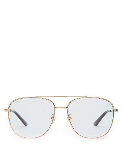 282e38046cc GUCCI Tortoiseshell acetate aviator sunglasses.  gucci