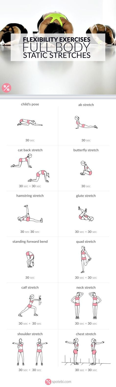 nice Flexibility Exercises | Full Body Static Stretches