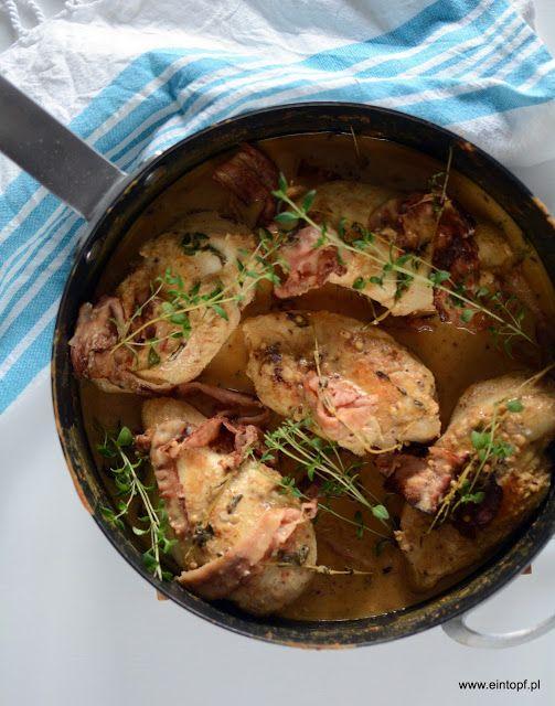 eintopf: kurczak na białym winie w sosie musztardowym z tym...