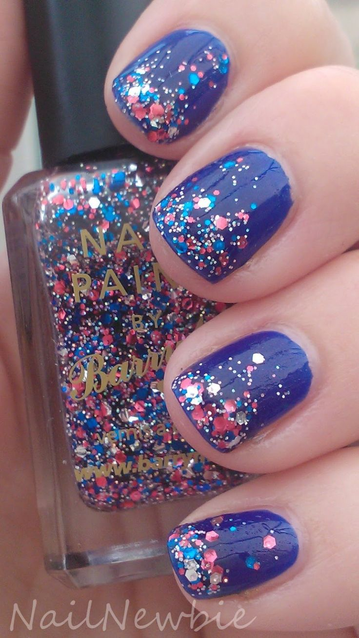 Go Team GB, Revlon Royal and Barry M Jubilee Jewel  Nail Newbie